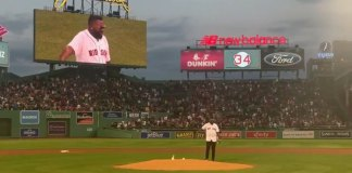 David Ortiz Visits Fenway for 1st Time After Shooting Throwing out First Pitch
