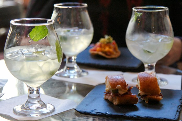 Prosecco Mojito and Cubano Sandwich samples at the Blink Monk