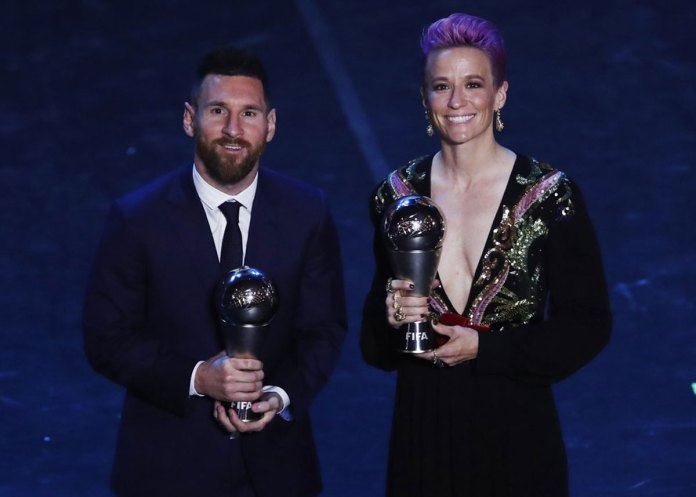 Rapinoe, Messi Win FIFA Player of the Year Awards