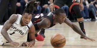 Aldridge, DeRozan Help Spurs Escape to Beat Heat 107-102