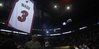 Heat Retire Dwyane Wade's No.3 Jersey at AmericanAirlines Arena