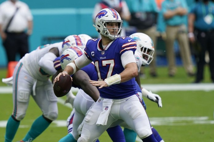 Allen reaches career high in passing, Bills beat Dolphins