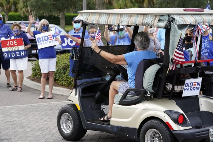 A senior warning sign for Trump: 'Go Biden' cry at Villages