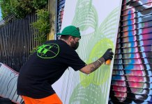 Biscayne World: Ahol Sniffs Glue eyes a new mural and book