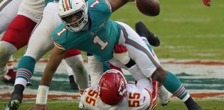 Mahomes, Chiefs clinch AFC West with 33-27 win over Dolphins