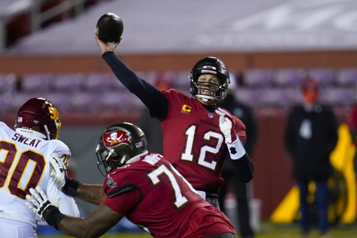 Brady outduels Heinicke, leads Buccaneers past Washington