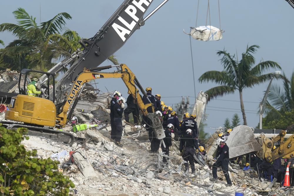 Search back on after rest of Surfside condo demolished