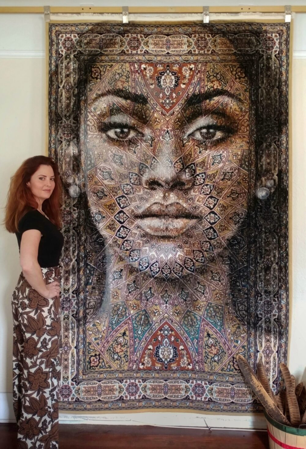 Florencia Clement de Grandprey makes haunting art on intricate rugs