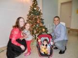 Reet Regina Cabrera, Chloe, Brooke ja Eric. Kesk Florida Eesti Selts Jõulupidu, 11. dets. 2016. Foto: Lisa A. Mets