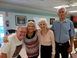 Erkki Taada, Inne Joonsar, and Geri and Rein Raja. KFES, 22 apr. 2017, Seminole, FL. Foto: Lisa Mets