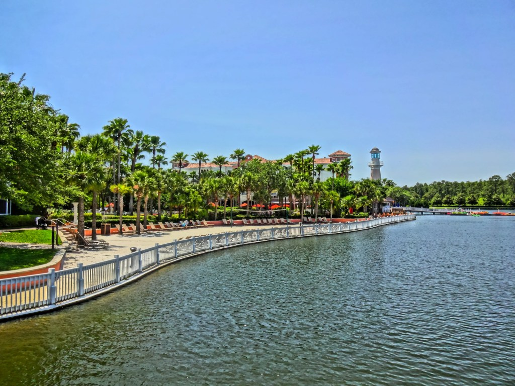 The Sandy Beach Area at Marriott Grande Vista Resort - Orlando Florida
