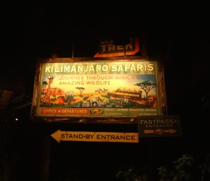 Kilimanjaro Safari at Night at Disney's Animal Kingdom