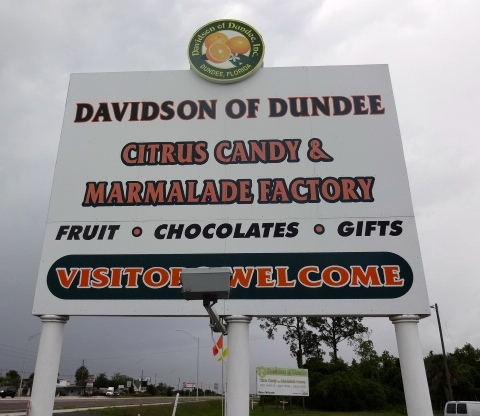 Davidson of Dundee Road Sign