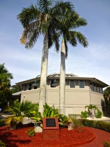 Bailey Matthews National Shell Museum Exterior with Raymond Burr Memorial