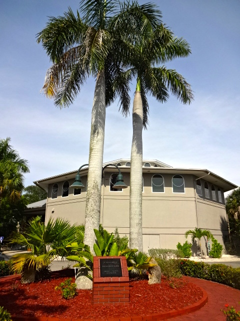 Bailey Matthews National Shell Museum Exterior with Raymond Burr Memorial