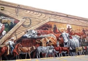 Mural: Cracker Trail Cattle Drive