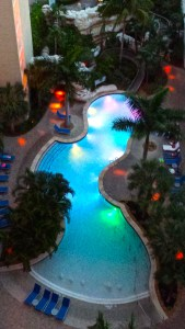 Marriott Crystal Shores Pool at Night