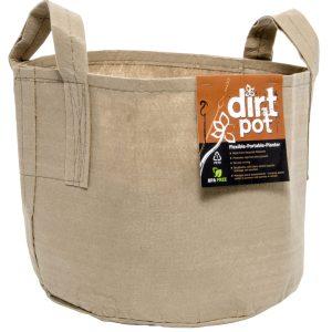 Dirt Pot Tan 300 Gal w/Handle (6/cs)