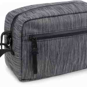 The Stowaway Toiletry Kit, Striped Black