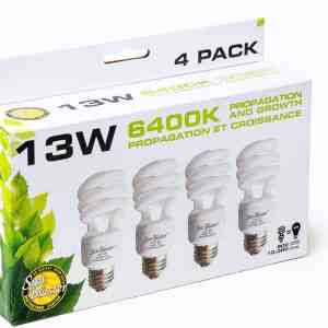 13W SunBlaster CFL 6400K (4-pack)