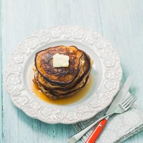 sour cream gluten-free pancakes, pancakes, breakfast