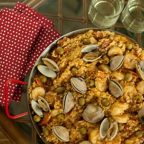 paella, spanish cooking, seafood