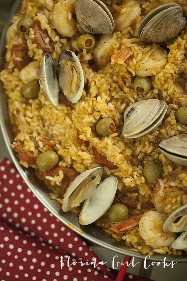 seafood, paella, spanish cooking