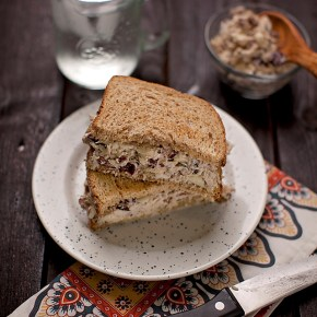 cranberry-pecan chicken salad sandwich, sandwich, chicken, weeknight dinner, lunch, healthy