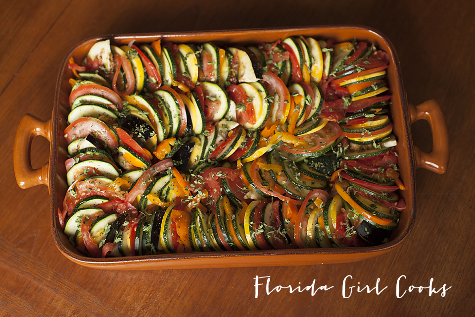 rustic ratatouille, ratatouille, french, france, vegetarian