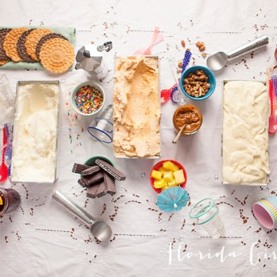 ice cream dinner party, ice cream, frozen treats, summer, let them eat ice cream, kids, adults, Cupcakes Cocktails &Kids, Florida Girl Cooks, food bloggers, collaboration
