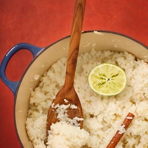coconut rice, coconut, caribbean food, tropical