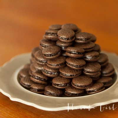 french chocolate macaroons, macaroons, french, French baking, sweet treats, baked goods, bake, baking, Williams-Sonoma