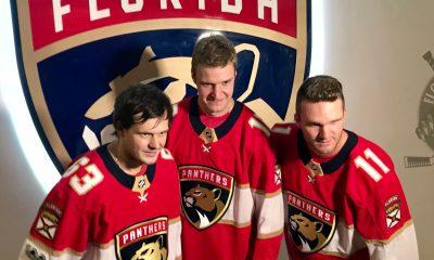 Panthers islanders barkov huberdeau dadonov reunited