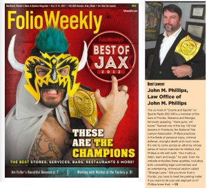 Folio Weekly Best of Jax 2012 Lawyer John Phillips