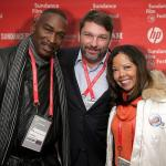 Wrongful Death Lawyer John Phillips with Lucy McBath and Ron Davis at Sundance