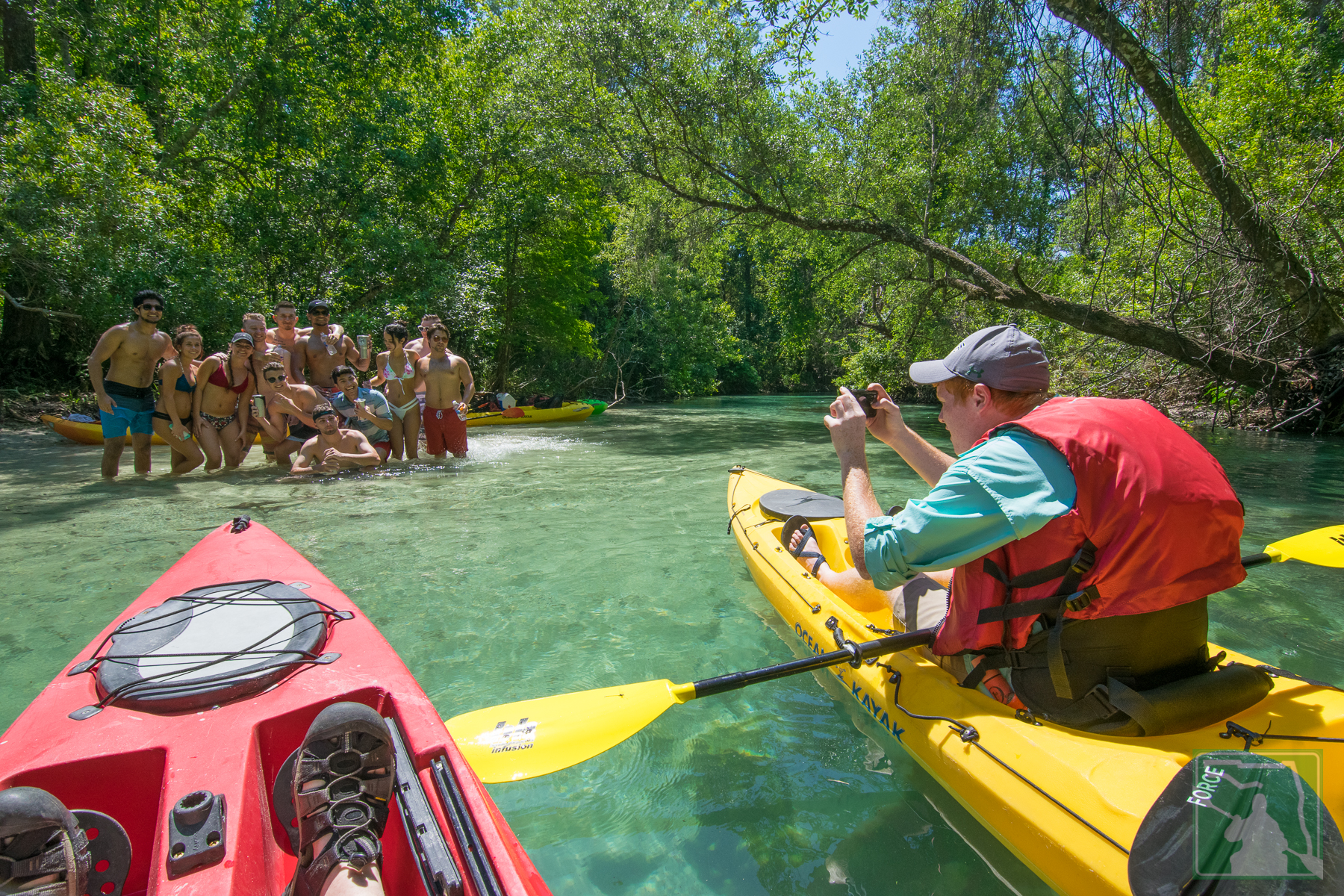 Crowd on Weeki Wachee River