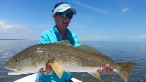 Giant Redfish in Islamorada FL with Captain Jacob
