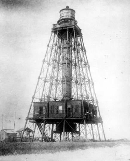 The post-1853 Sand Key Lighthouse (photo circa 1920s).