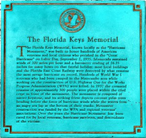 Florida Keys Memorial Hurricane Monument