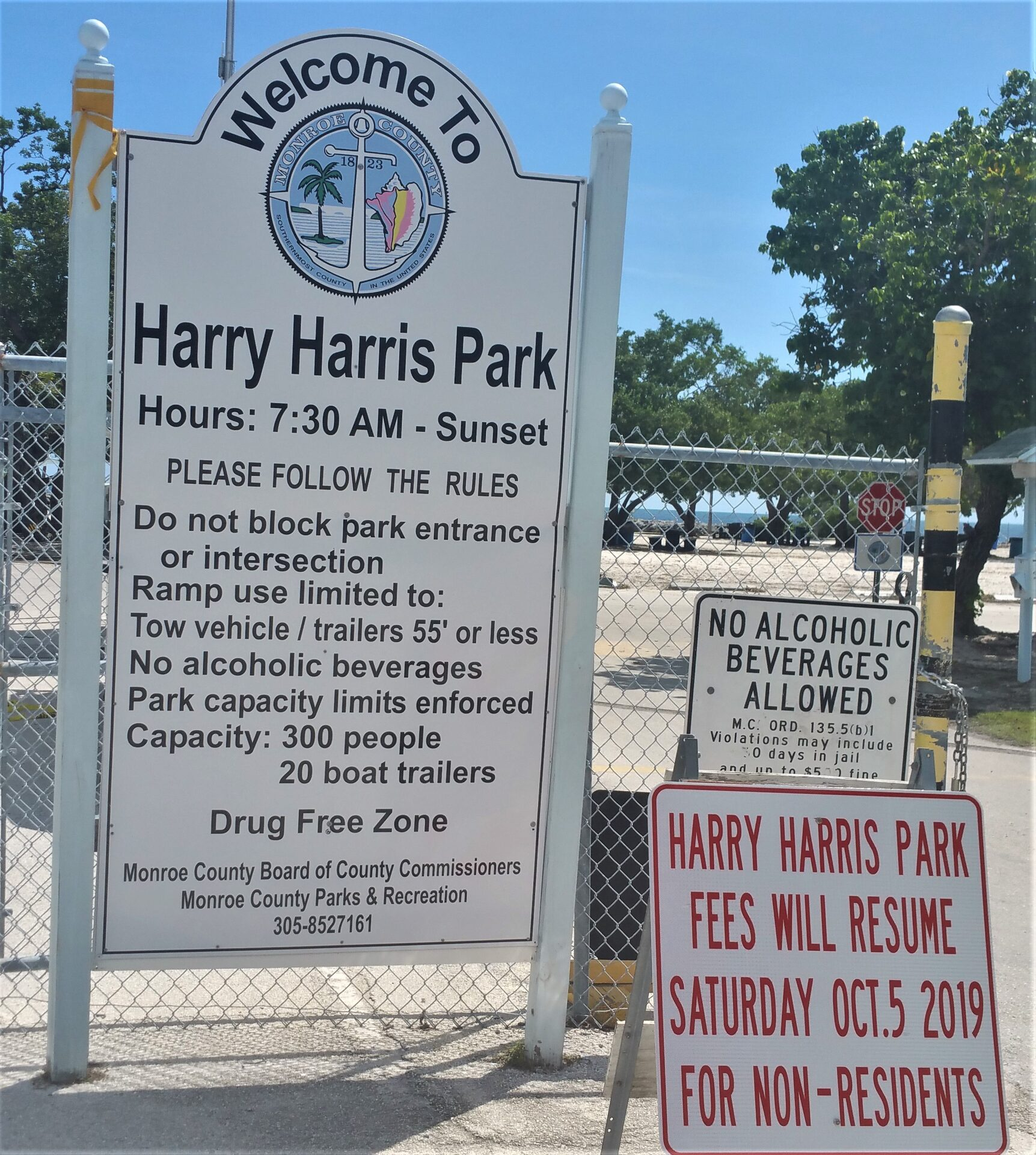 Harry Harris Park Updates – Fees