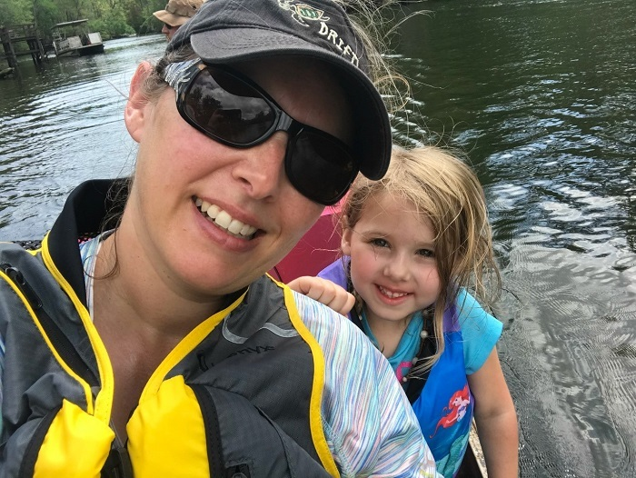 author and daughter lifejackets