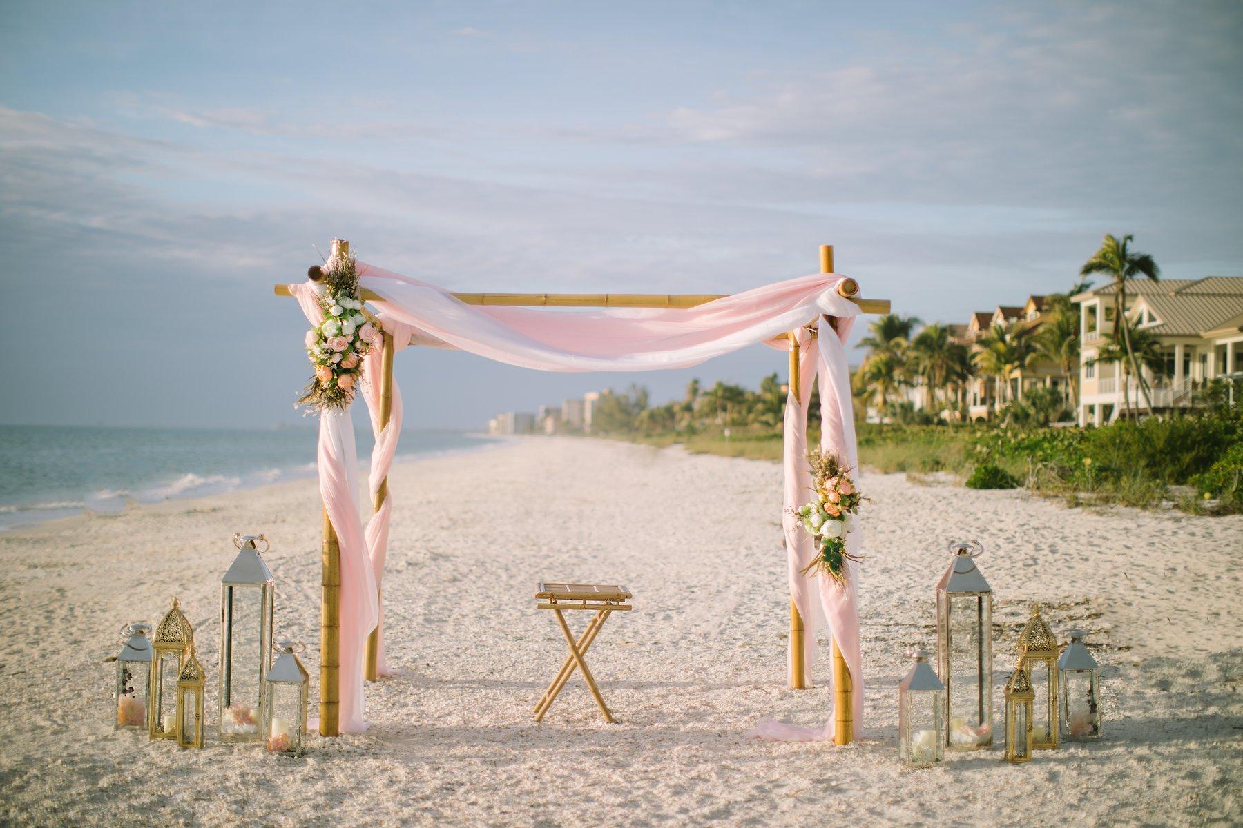 affordable beach wedidng decoration