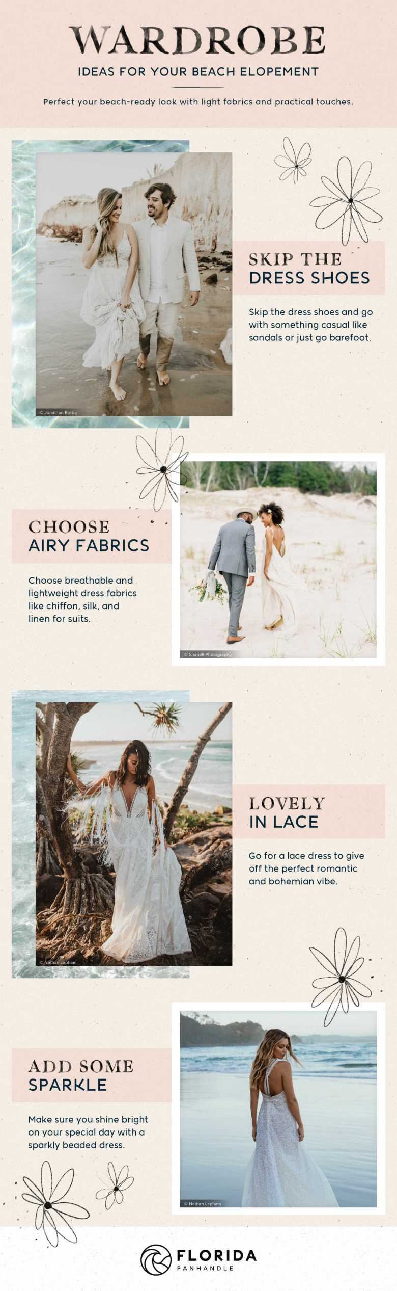 beach elopement attire