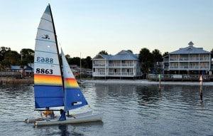 Sailing near Cedar Key