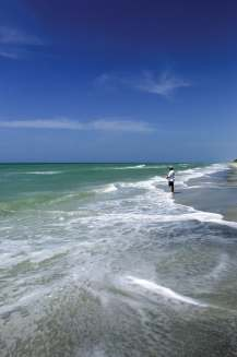 Surf fishing at Don Pedro Island State Park