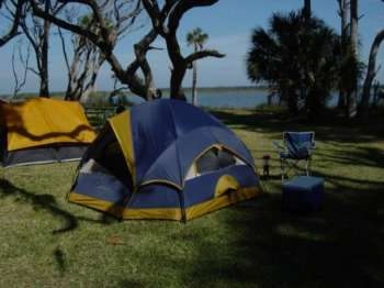 Camping at Princess Place, Palm Coast, Florida