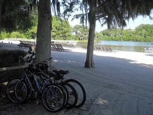 The beach on Bay Lake at Fort Wilderness