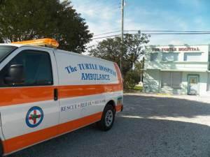 The turtle ambulance at the Turtle Hospital, Marathon, Florida