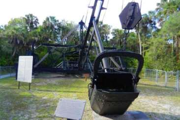 Historic Bay City Walking Dredge at Collier-Seminole State Park near Naples