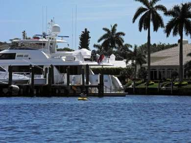 Paddling past the Royal Palm Yacht Club marina.